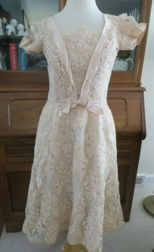 Ceil Chapman 40s 50s Vtg Champagne Pink French LAC