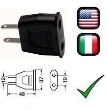 Spina riduzione adattatore da passo americano USA a passo italiano 110V 220V