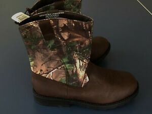 NEW Boy YOUTH *5* or *6* REALTREE Camoflauge Country Western Boots Cowboy Camo