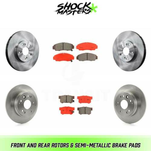 Front /& Rear Rotors /& Semi-Metallic Brake Pads for 2001-2003 Acura CL