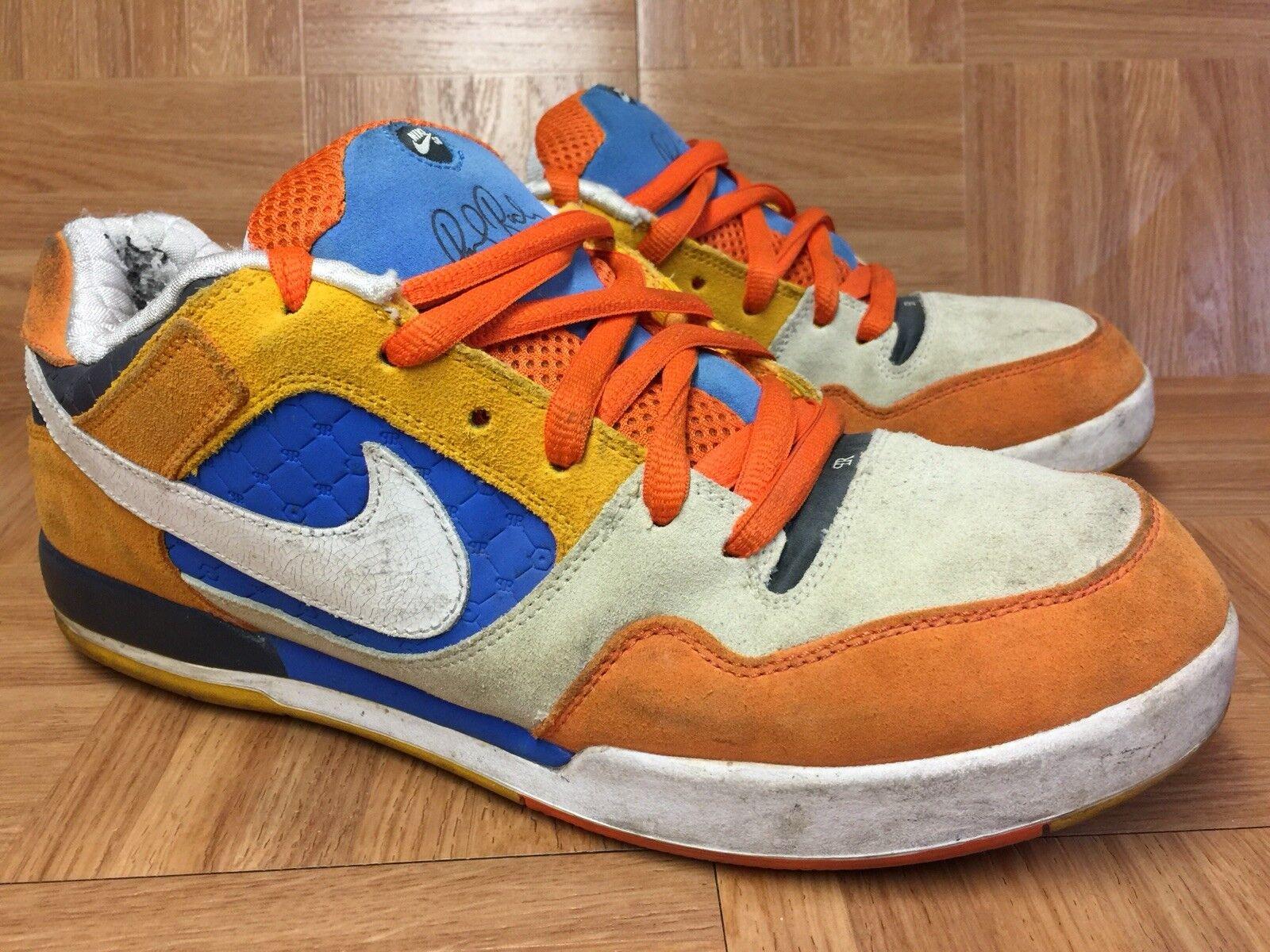 RARE? Nike Air Zoom Paul Rodriguez 2 Orange Blaze Sz 12 2008 315459-811 Uomo's