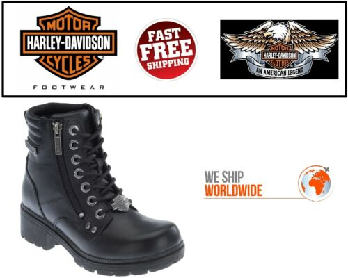 """Harley-Davidson D83877 Women/'s Inman Mills 5.25/"""" Motorcycle Leather Riding Boots"""