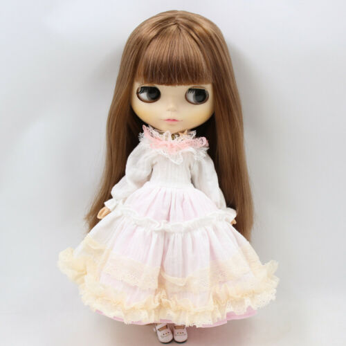 White and pink Elegant and noble lady Prom dress for blythe doll licca DOLLS