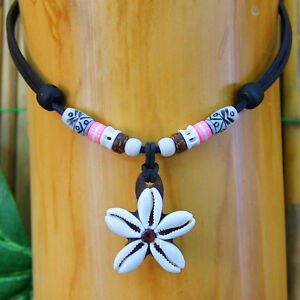 Muschelkette-Frauenkette-Damenkette-Maedchenkette-Surferkette-Surfschmuck-Rosa