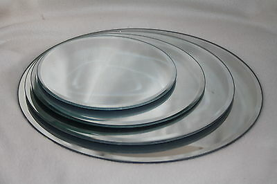 MIRROR PLATES all sizes & quantities often used for wedding table fish bowls etc