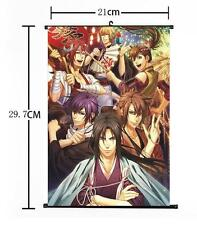 "Hot Japan Anime Hakuouki Whole Art Cosplay Home Decor Wall Scroll 8""×12"" 01"