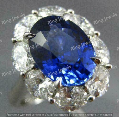 5ct Big Oval Tanzanite Diamond Unique Design Engagement Ring 14K White Gold Over
