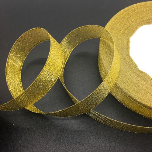 "New 50 Yards 5//8/"" 15mm Organza Ribbon Bow Hair Wedding Decoration Lace Crafts"