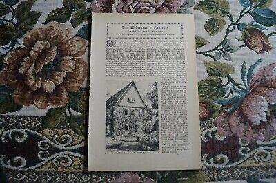 Aufrichtig 1921 Fachbericht Vh / Hosterwitz Moderne Techniken