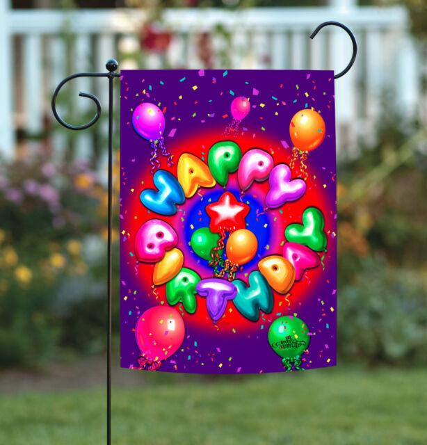 Birthday Party Balloons Small Garden Applique Flag For Sale Online Ebay