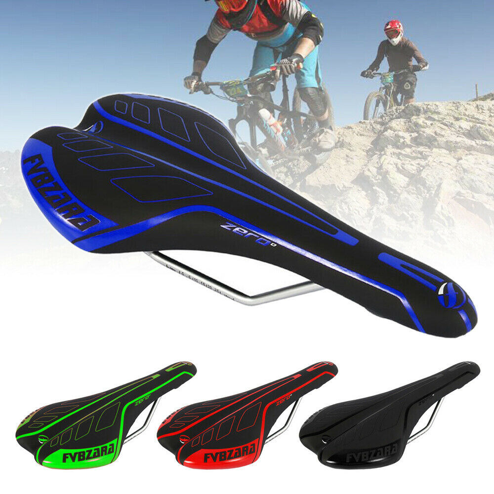 Mountain Bike Comfort Wide Seat Cushion Bicycle Soft Padded Saddle Black
