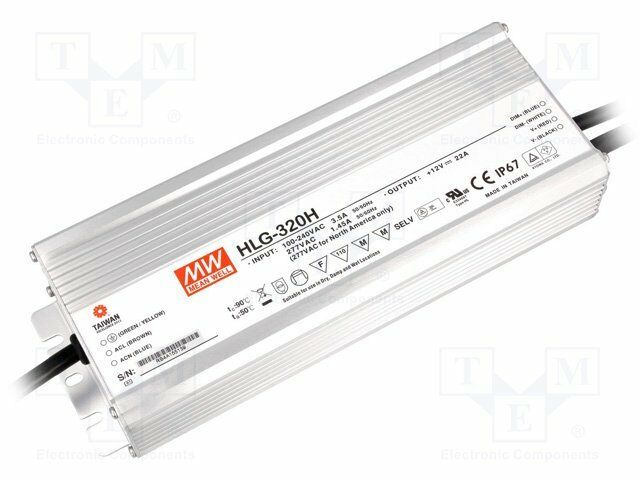 MeanWell HLG-320H-C1400B LED Power Supply 320W 1400mA Constan Current CC