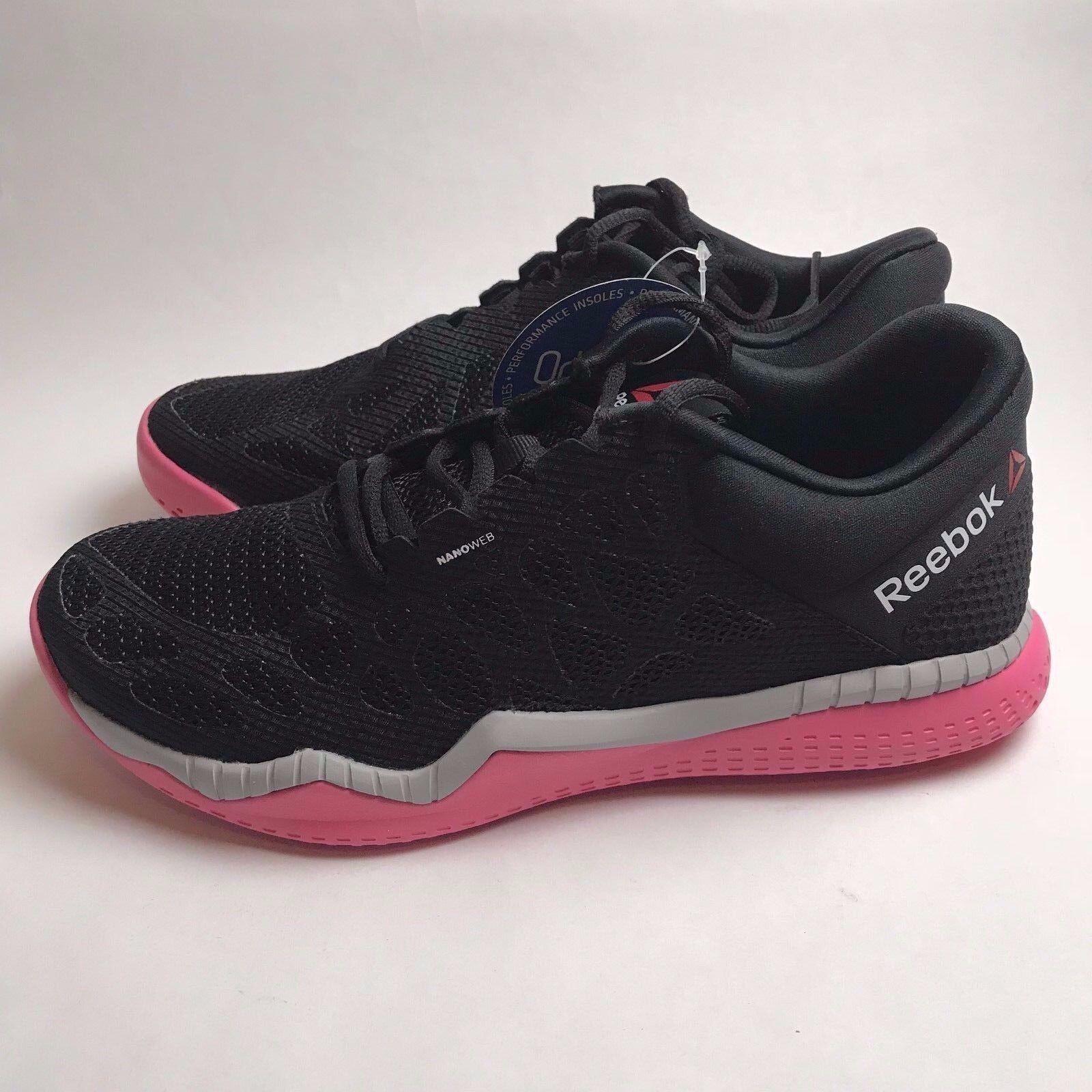 Reebok Zprint Train [V72199] Black & Pink Women's Cross Training Shoes Size: 8.5