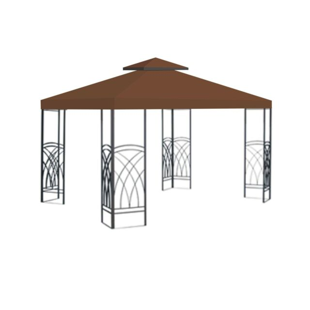 Lansing Gazebo Replacement Top Shade Sunjoy 10 X 10 L Gz747 Brown Open Box For Sale Online Ebay