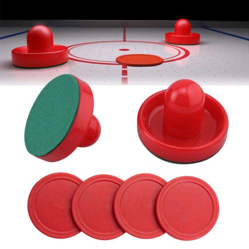 Air Hockey Tisch Spiel Ersatz Zubehör 2 Pucks 4 Schieber Spielzeug Ausverkauf