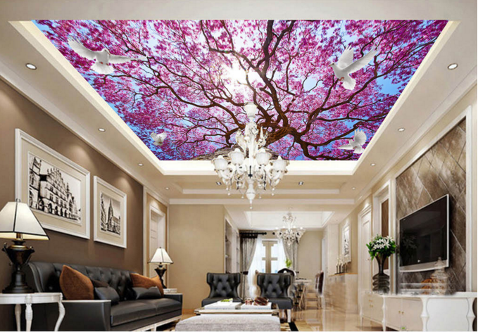 3D Sun lila Leaf Tree 785 Wall Paper Wall Print Decal Wall Deco AJ WALLPAPER
