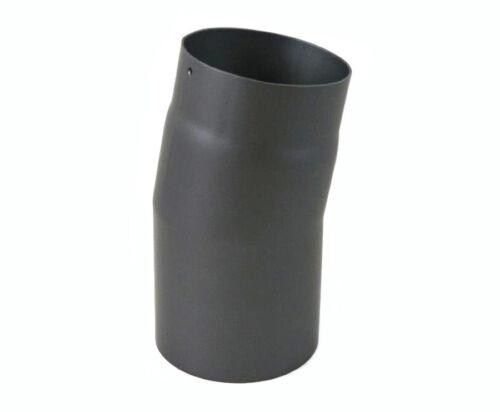 Rauchrohr Winkel 15° Grad DN 160 mm Grau Knie Bogen Ofenrohr Kamin Stahl Neu
