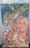 Vintage Advent Calendar 1984 3d Christmas Angel Kids Animals Peggy 6856-2 Curren
