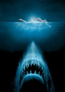 JAWS-Movie-PHOTO-Print-POSTER-Textless-Film-Art-Stephen-Spielberg-Classic-001