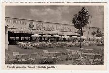 Stuttgart,Ländliche Gaststätte im Killesberg Park zur Gartenschau, Foto AK c1955