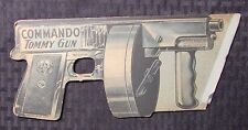 "Vintage COMMANDO TOMMY GUN 10.5"" Cardboard & Paper Snap VG 4.0"