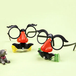 2XSuper-Funny-Big-Nose-Blowing-Dragon-Glasses-Tricky-Fun-Toys-Novelty-FunnyNYFK