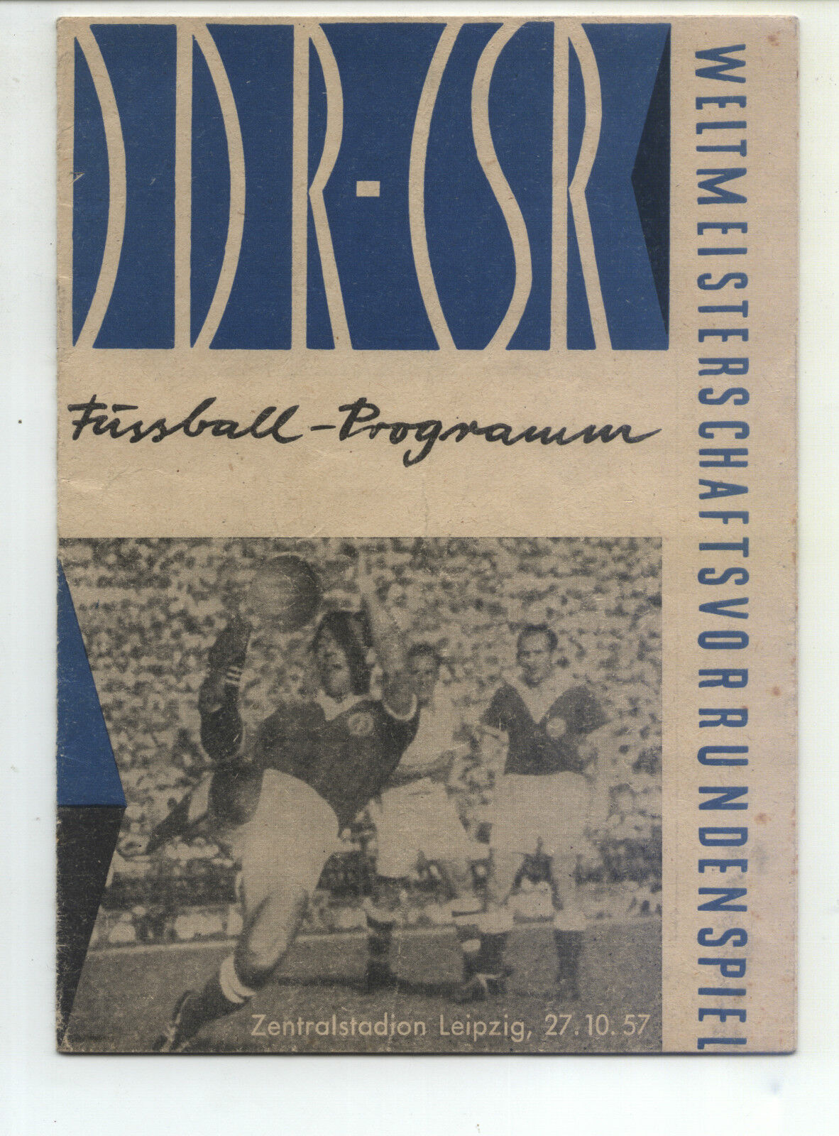 WM Qualifikation 27.10.1957 verkaufen Zu | Leipzig in