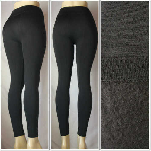 Fashion Fleece Color Knitted Leggings One Size Skinny Brushed Warm Winter Pants