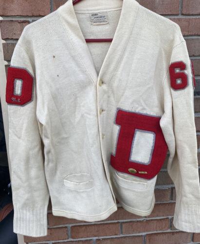 Vintage School Varsity Football Sweater Sears Let… - image 1