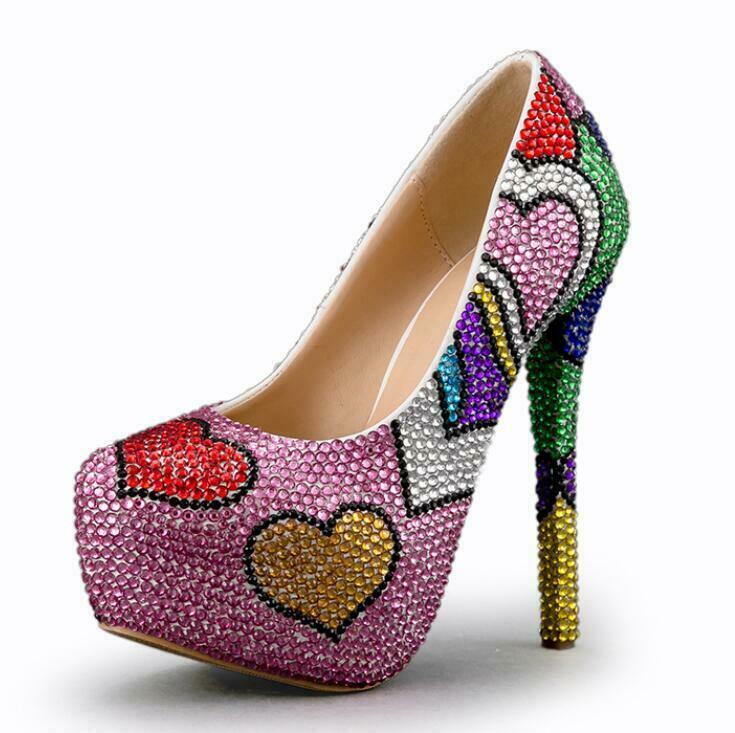 VOGUE Womens Womens Womens Party Nightclub Elegant Slip-on Rhinestones Block Heels shoes Pumps a3bdb8