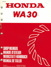 HONDA WA30 WATER  PUMP  SHOP  MANUAL  XX