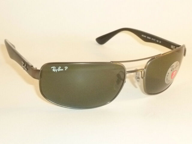 5d8146135f0 Ray-Ban RB3445 Men s Polarized Sunglasses with Gunmetal Black Frame and Green  Classic G-15 Lens