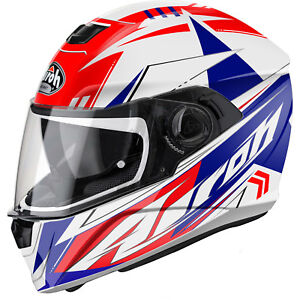 Airoh-Storm-Battle-Red-Motorbike-Helmet-Sports-Touring-Motorcycle-Full-Face-Bike