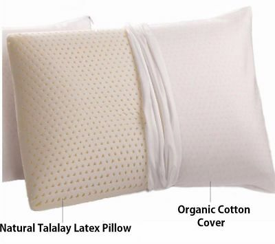 Natural Talalay Latex Pillow With Organic Cotton Covering