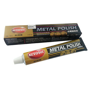 autosol 2019 solvol chrome polish cleaner aluminium metal brass copper 75ml ebay. Black Bedroom Furniture Sets. Home Design Ideas