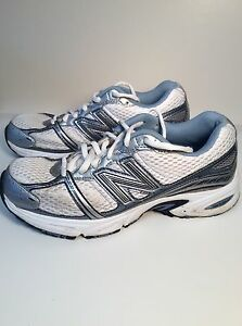 Women's New Balance 470 V2 Running Shoes 6.5 White/Blue/Silver Pre-Owned