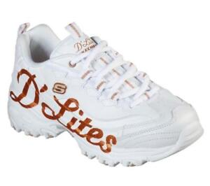 Tranquilizar Limpia la habitación Permuta  Zapatillas De Mujer Skechers d'lites Blanco De Cuero Zapatos de espuma de  memoria de escritura Sport | eBay