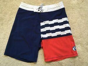 f47caafbb1 GUC Body Glove Vapor 4-Way Stretch Boardshorts Shorts AMERICAN FLAG ...