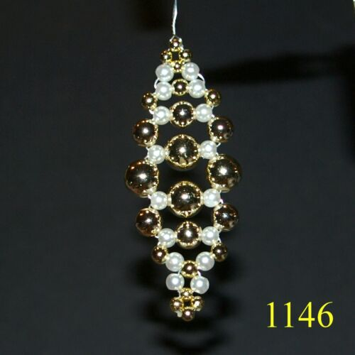 1146 HH-Christmas Tree Decorations Bead Cones-no Elegant Christmas Tree Decoration