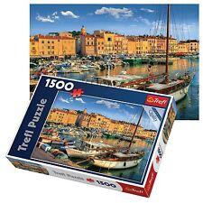 Trefl 1500 Piece Adult Large Saint Tropez Old Port Ships Boat Jigsaw Puzzle NEW