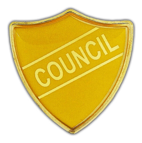 Yellow Green Orange Council Shield School Badges Red Blue