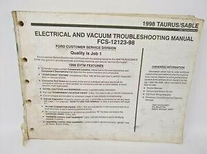 OEM 1998 FORD TAURUS MERCURY SABLE ELECTRICAL VACUUM WIRING DIAGRAMS MANUAL  | eBay | 1998 Mercury Sable Wiring Diagram |  | eBay