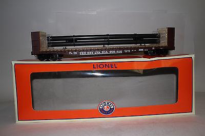 Boxed Generous Lionel O Scale #6-27838 Pennsylvania Prr Bulkhead Flatcar Excelent