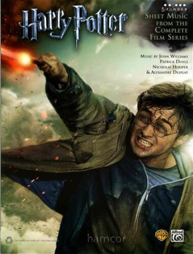 Harry Potter 5 Finger Piano Very Easy Sheet Music from Complete Film Series 1-8