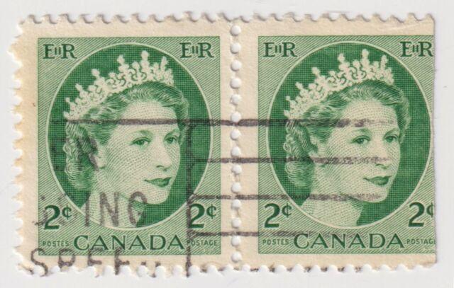 1954 Canada - Queen Elizabeth II - Pair 2 Cent Stamps