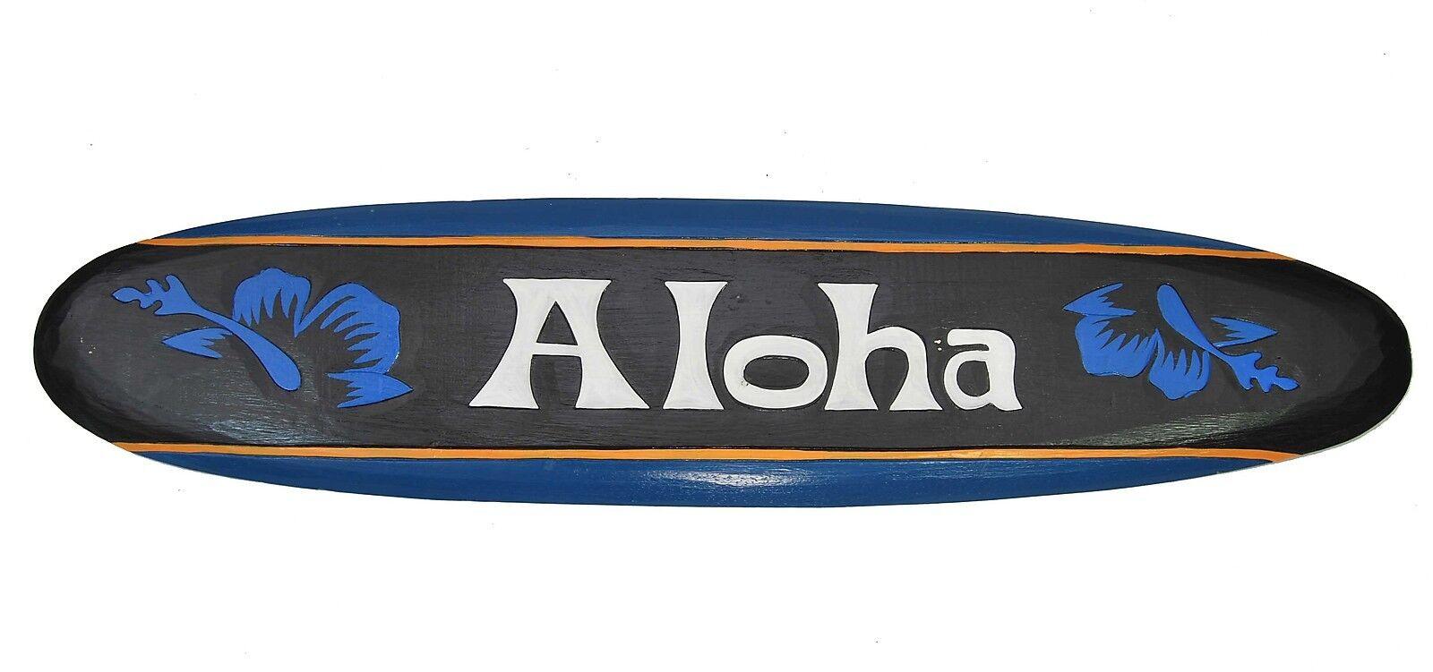 Surfboard zum Aufhängen 100cm Holz Board als Deko Wellenreiten Surfbrett