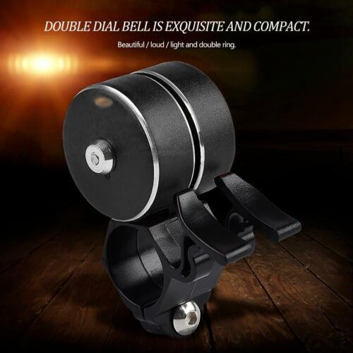 Cycling Loud Bicycle Ring Bell Mountain Bike Horn Double Bell Alarm Accessory