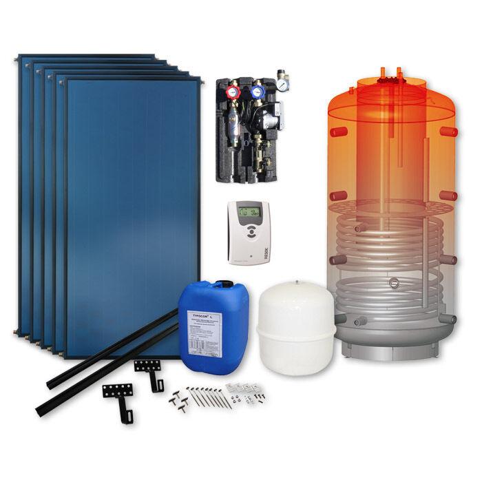 Solaranlage 5 Kollektoren 500l Speicher BAFA förderfähig Solarpaket thermische