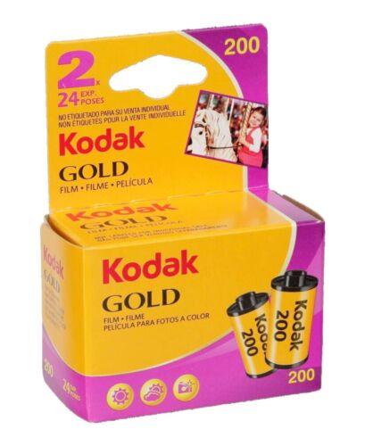 KODAK BIPACK 2 PELLICOLE COLORI 35 MM GOLD 24 POSE 200 ISO NUOVA