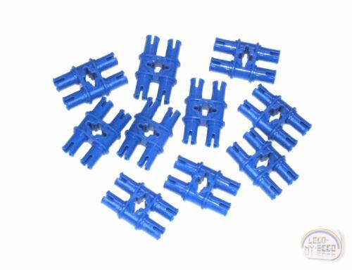 LEGO Technic EV3, Connector Blue New - 10 x Double Pin w//Axle Hole